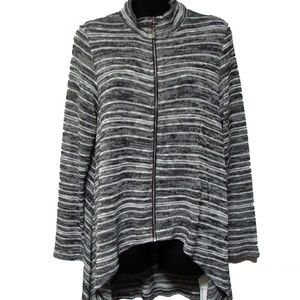 Joseph Ribkoff High Low Zip Sweater